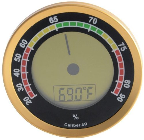 Cigar Oasis Caliber 4R Gold Digital-Analog Hygrometer