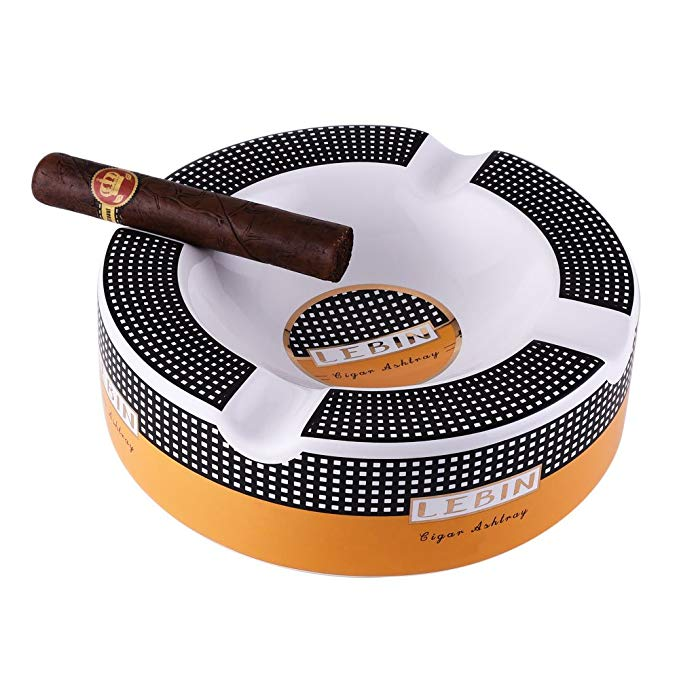 LEBIN Cigars Large Ceramic Ashtray